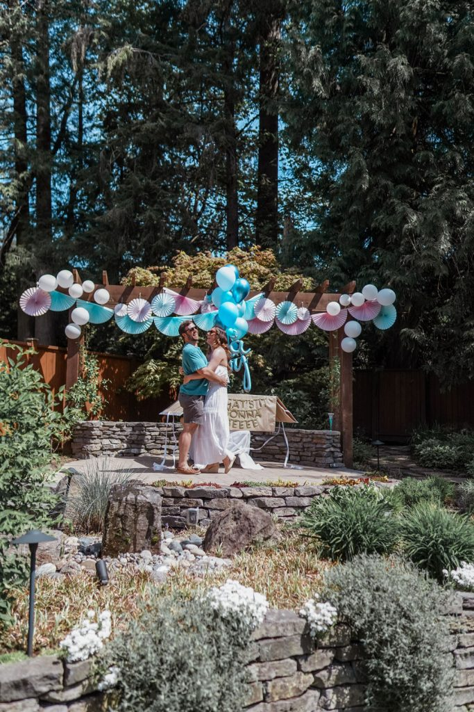 Gender Reveal Backyard Party